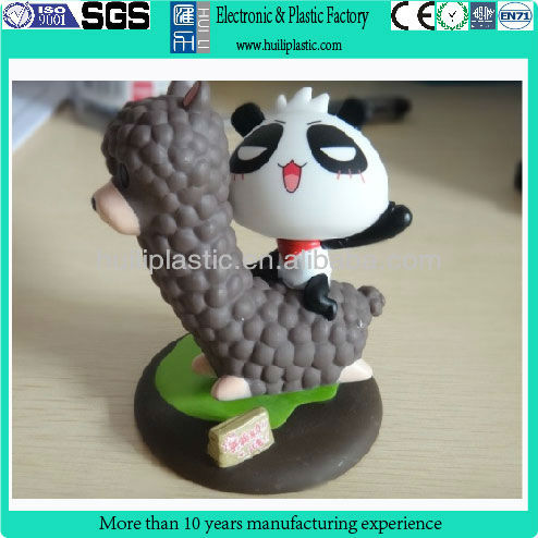 Plastic animal figure/panda cartoon anime figure/plastic cartoon toy