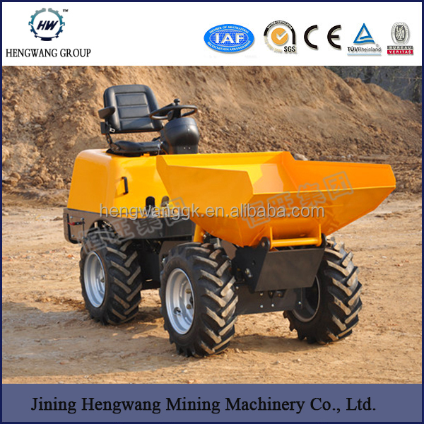 Electric Wheel Loader Mini Dump Rubber Mini Tracked Dumper