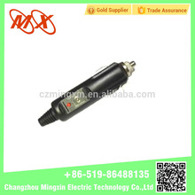 good quality low price car cigarette lighter socket in car charger with LED light