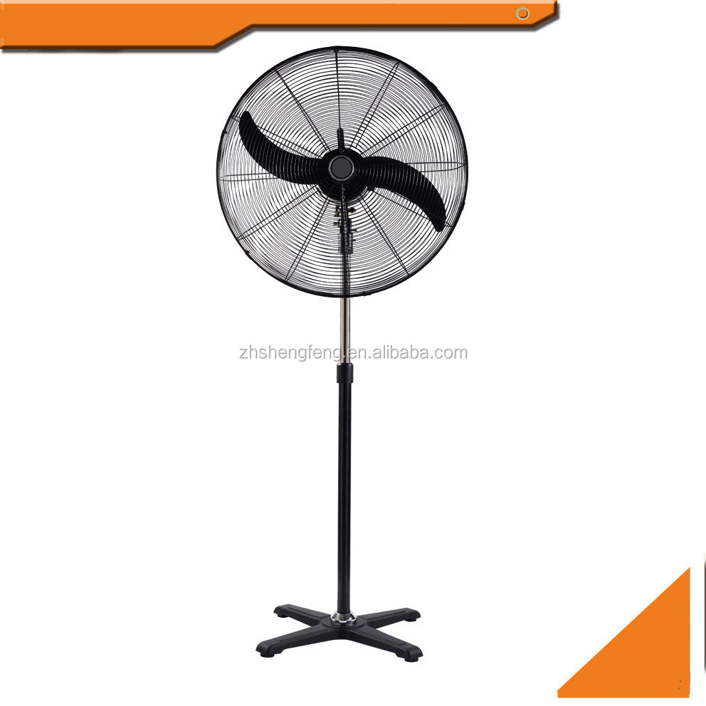 "20"" 220V 26"" 30"" inch powerfull industirail electric 2 blade stand fans with cross base"