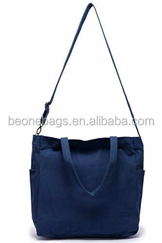 Cross Body Carrying Cotton Canvas Tote Bag Craft Bag