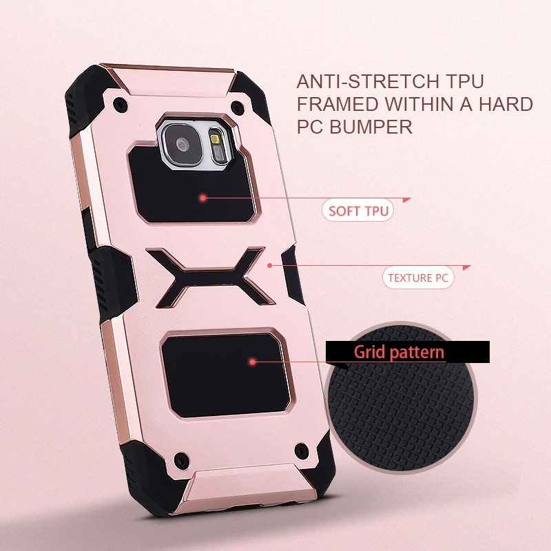 Hybrid pc tpu shockproof case for samsung galaxy s7 football textures back cover
