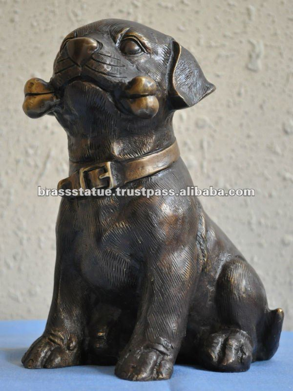 Brass Figurine ' Metal Dog '