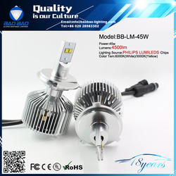 H4 9003 4500lm LED Light 3600lm High Low Headlight Globe Bulb 50W Xenon White P43T BB-4500LM