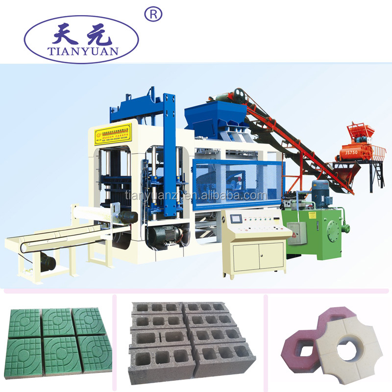 Automatic model QTY8-15 Concrete block paver machine for paving bricks with OEM <strong>service</strong>