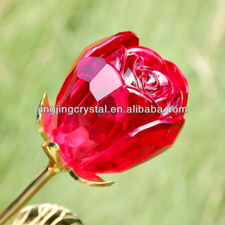 Newest Artificial Flowers Crystal Flower Rose For Wedding Centerpieces