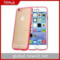 Newvit Back cover 5 case for iPhone6 / mobile phone case / Ultra Slim & light / Colorful TPU bumper & clear acrylic back