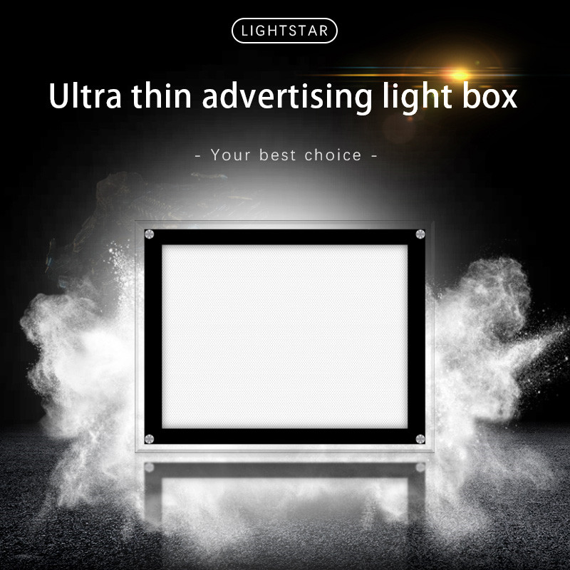 A4 size led post display light box backlit mirror advertising box indoor outdoor hanging light box window display