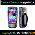 Cheapest 5 inch rugged PDA with LF UHF HF RFID rugged pos terminal with 1D 2D Barcode scanner