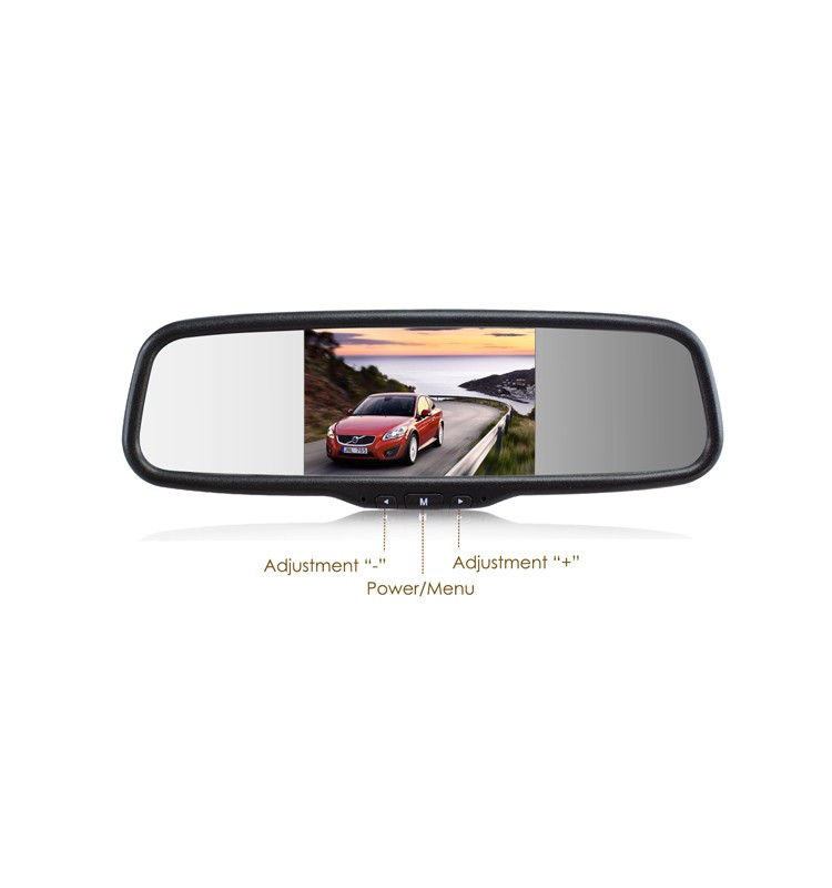5 inch lcd monitor for car rear view mirror
