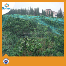 100%HDPE anti-bird nets are available