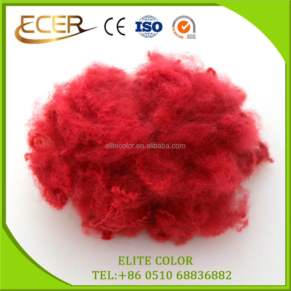 MATERIAL TEXTILE SOLID RECYCLED DOPE DYED POLYESTER STAPLE FIBRE FOR NON-WOVEN FELT