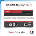 South America Digital satellite internet receiver twin tuner hd iks and sks tocomfree s929 plus