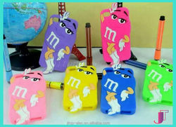 3D Cute M&M Chocolate Candy Rainbow Bean Silicon Case for Samsung Galaxy S4 I9500