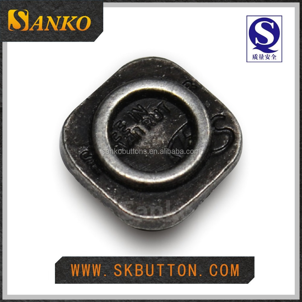 High quality old silver square alloy metal rivets