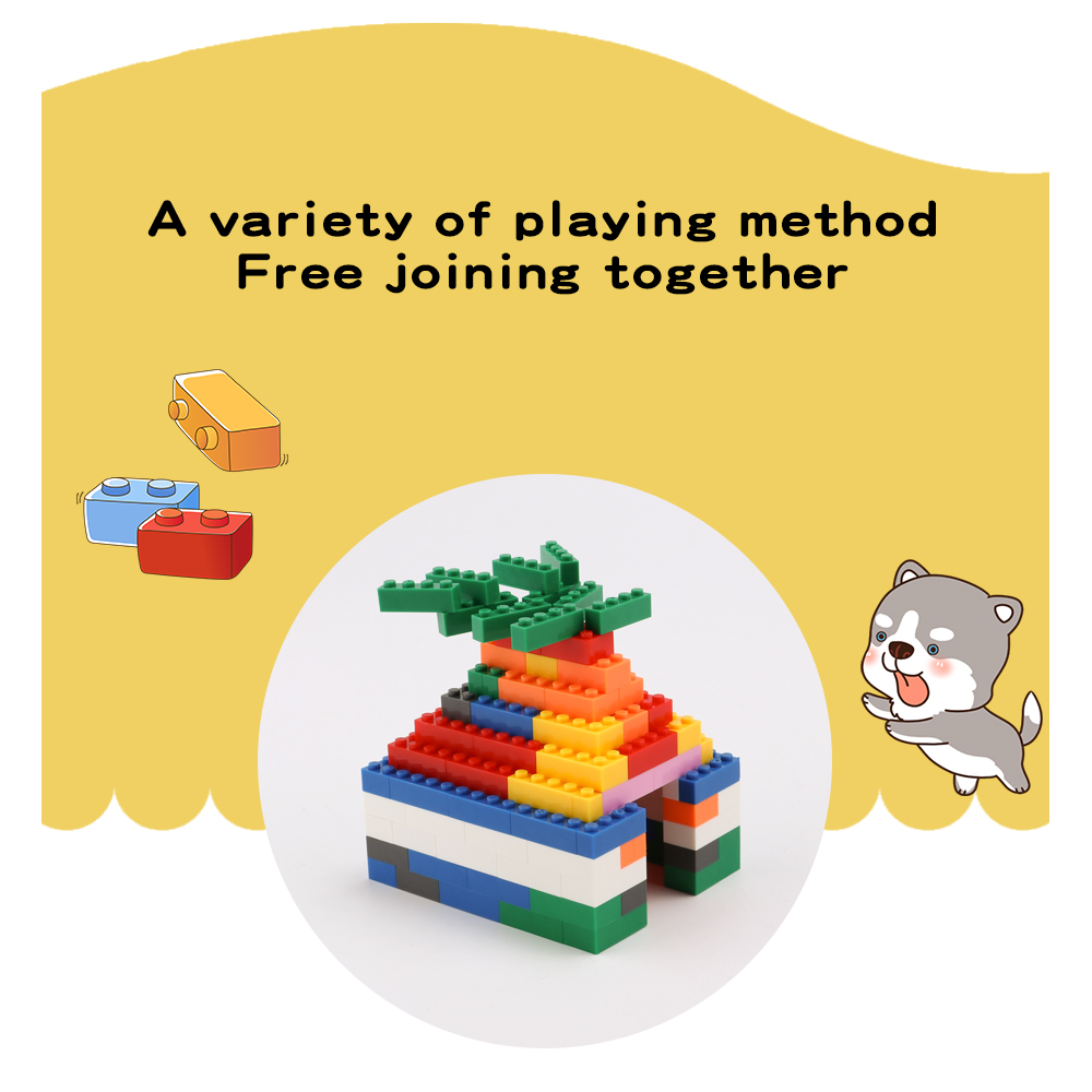 500 PCS  Blocks Small Particles DIY Bulk Toy Kindergarten Entertainment