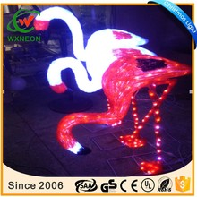 Park animal series holiday decorative lighted family flamingo motif light