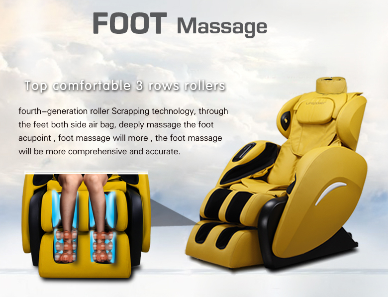 Front slip massage chair with music