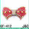 red color glass beads Shoe Decorative Bow