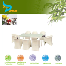 Hot Sale Replica Designer Flat Pack White Rattan Bar Table And Chairs