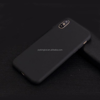 For iphone x tpu Case 2017 accessories New cover matte Soft TPU frosted Skin Back phone shell black