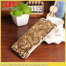 Cheapest price Hollow Vines Flower Pattern Electroplating Hard Case for iphone 6 4.7inch