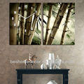 paintings of modern trees, bamboo painting wall clock