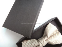 China supplier free sample small bowtie boxes with special texture paper