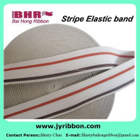 40mm nylon and polyester stripe elastic band for belt