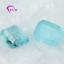 Emerald Cut Wholesale Artifical Aquamarine Loose Gemstone For Jewelry Making
