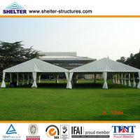 30x60m 800 People a Shape Aluminum PVC Roof and Side Wall Glass Hard Wall Big Events Tents for Events Sale for Wedding or Car