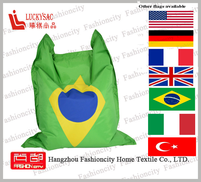 Custom Printing outdoor waterproof fabric flag large square bean bag