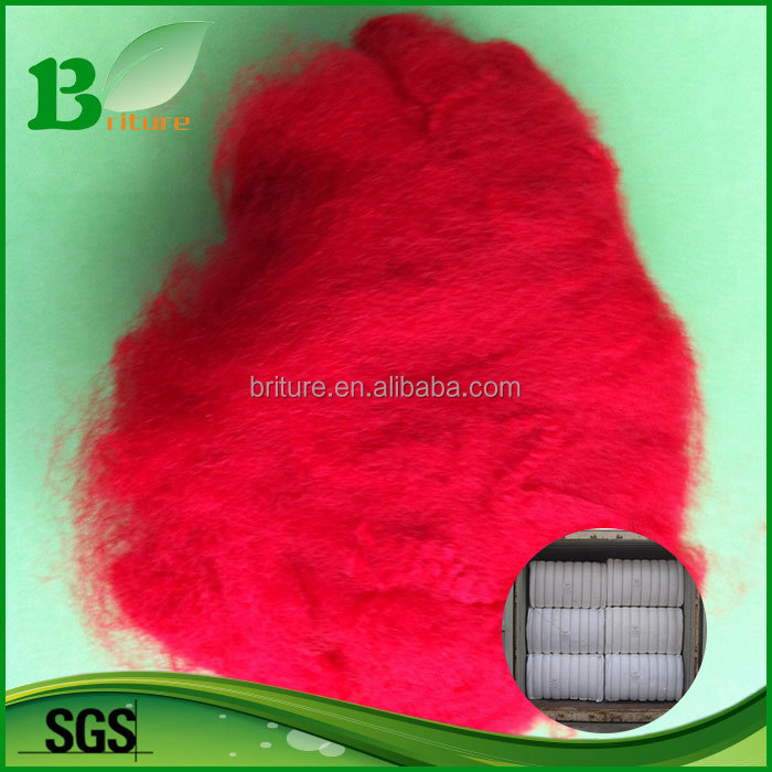 short Polypropylene staple fiber for spinning