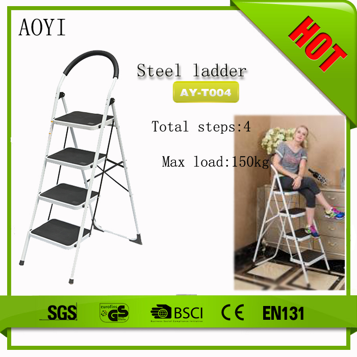 zhenjiang AY-T004 multipurpose telescopic folding iron stepladder