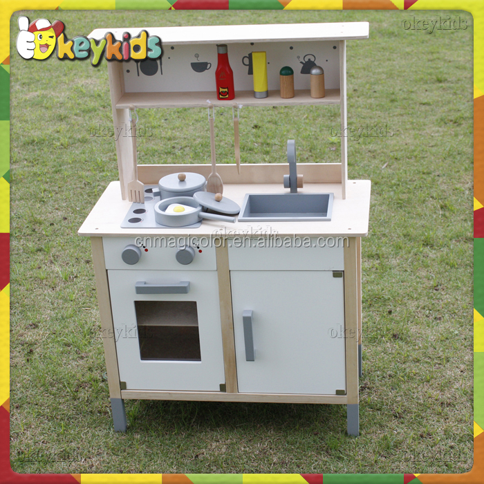 2016 wholesale children wooden toy kitchen sets,DIY baby wooden toy kitchen sets,popular kids wooden toy kitchen sets W10C197
