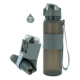 Personalized collapsible custom design foldable gym protein shaker water bottle