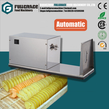 high efficiency automatic electric potato spiral slicer cutter