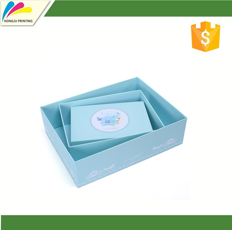 Exquisite and rigid cardboard gift packaging box with custom logo printing