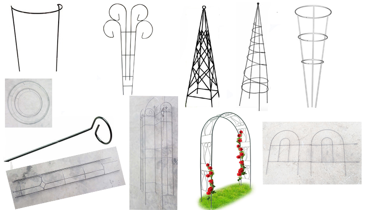 Plastic Coated Metal Garden Stakes