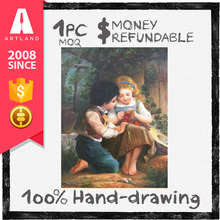 Handmade famous paintings of children wholesale