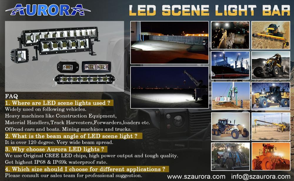 NEW IP69K E-mark Aurora Off road Truck LED Scene Light