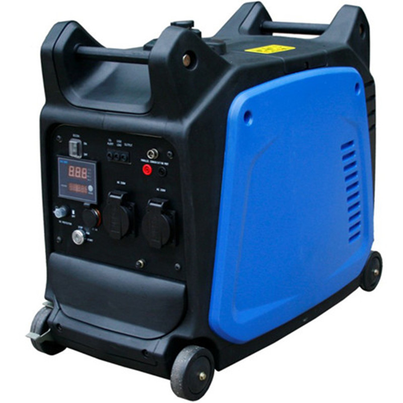 Air cooled mini electric start generator, gas operated electric generator, magnetic electric generator