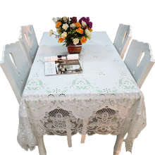 Lace tablecloth with the fabric cotton