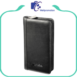 High-end long pu leather smart wallet for men