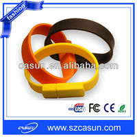 Customized bulk cheap silicone usb bracelet