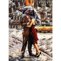 DIY Oil Painting Paint by Numbers Kits Image Drawing On Canvas by Hand Coloring Arts Crafts - Hugging Couple