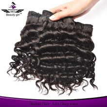 Hot ! 100% unprocessed deep wave virgin hair 10 inch natural brazilian hair pieces