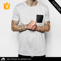 Fashion O collar short sleeve cotton grey color t shirt