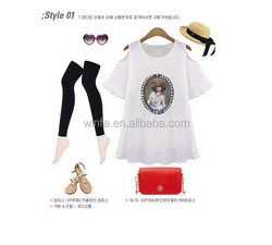 Low price manufacture polyester/spandex women t-shirt