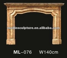 Indian style marble fireplace